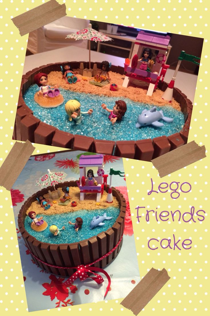 Lego friends birthdaycake