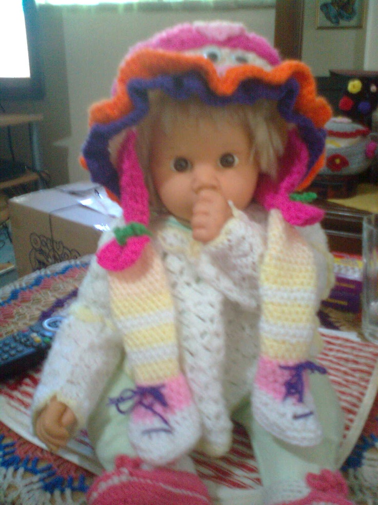 MY LITTLE BEKKIE, I MADE ALL THE CLOTHES THAT SHE IS WEARING..