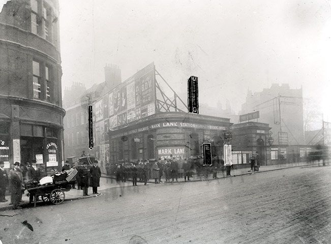 Tube: Mark Lane station (later re-sited and renamed Tower Hill), 1907. (London)