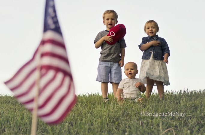 I pledge allegiance, to the flag... 4th of July Photography, Flag Picture -The Family Hearth Blog-