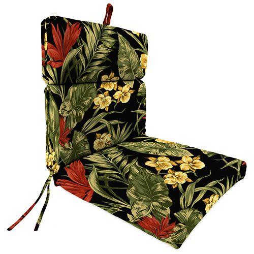 Jordan Manufacturing Company 9502PK1-1509C Sunset Ebony Universal Chair Cushion
