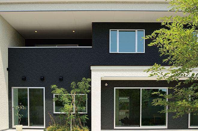 施工例 ドゥーナス16pz 外壁 外装メーカーの旭トステム外装株式会社 住宅建材 家 外観 施工
