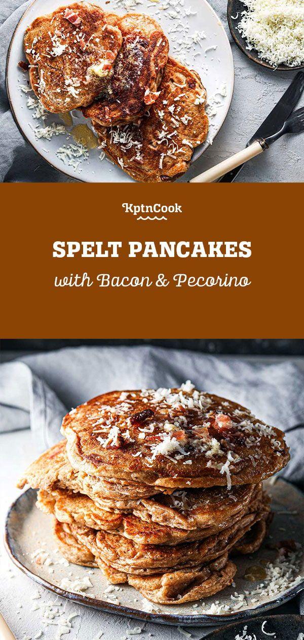 Spelt Pancakes With Bacon Pecorino Recipe In 2020 Pancake Recipe Buttermilk Recipes Delicious Breakfast Recipes