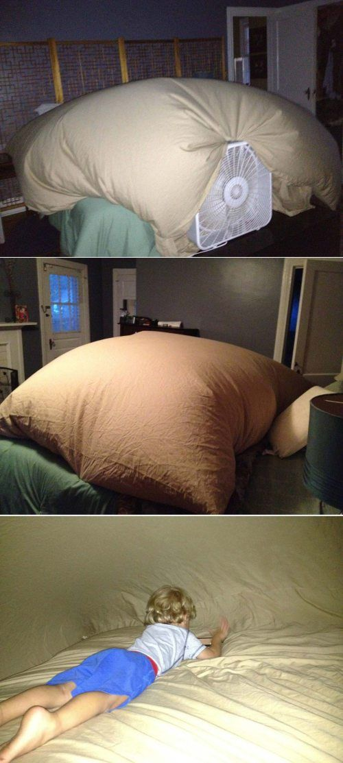 The parent who brought blanket forts to a whole new level. |