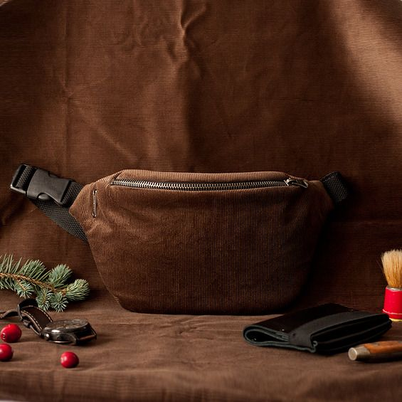 Anacomito Belt Bag Cord, corduroy  Fanny Pack, Bumbag, Waist Bag
