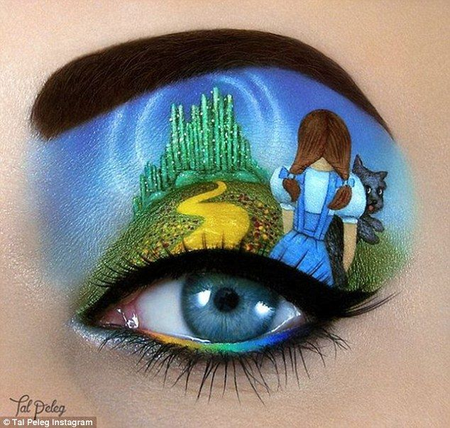 We're not in Kansas anymore: Dorothy and Toto follow the yellow brick road, up Ms Peleg's eyelid