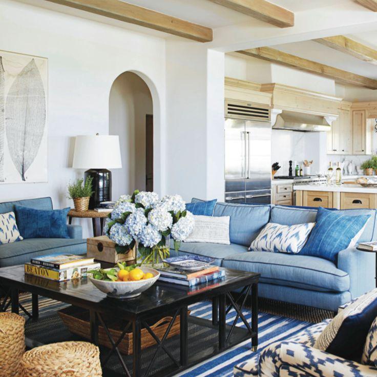 MY NEW FAVORITE INTERIOR DESIGNER: MARK SIKES. Blue SofasDrawing RoomLiving  ...