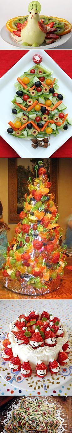 Новогоднее украшение из фруктов и не только для праздничного стола