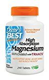 Doctors Best High Absorption Magnesium Glycinate Lysinate 100% Chelated Non-GMO Vegan Gluten Free Soy Free 200 mg 240 Tablets