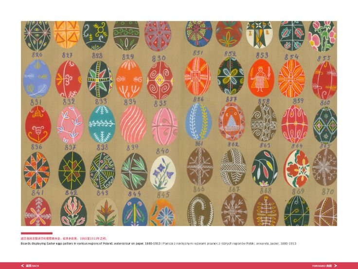 Strona z katalogu do wystawy// Page from the inside of the #exhibition #catalogue .#easter #Eastereggs #pisanki  XIX/XX