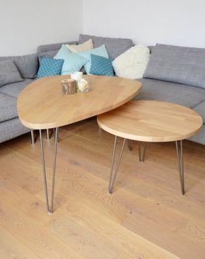 Table basse gigogne style scandinave avec hairpin legs http://www.homelisty.com/diy-hairpin-legs/