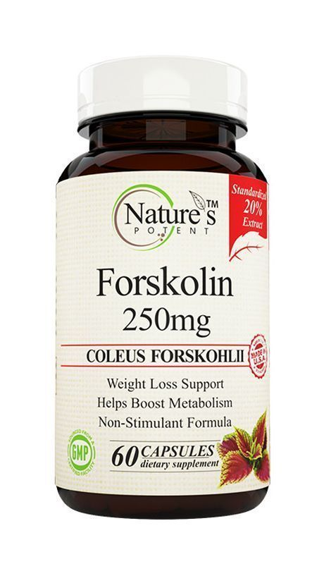 Herbs for weight loss Forskolin 250 Mg, Standardized to 20% Pure Extract