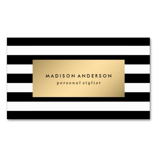 165 best plain business cards images on pinterest lyrics text chic stripes in gold business cards colourmoves