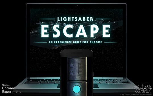 You have to try Google's new 'Star Wars' lightsaber game
