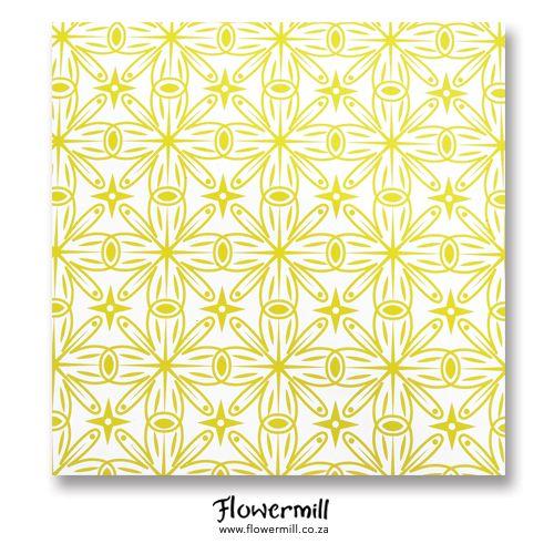 Green Star Burst Gift Wrap www.flowermill.co.za