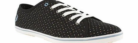 Fred Perry Black And Blue Phoenix Trainers A Phoenix rises out of the ashes with a new polka dot dressing. The Fred Perry Phoenix VI is a contemporary classic in womens casual sportswear and it arrives with colourful dots on the black upper. L http://www.comparestoreprices.co.uk//fred-perry-black-and-blue-phoenix-trainers.asp