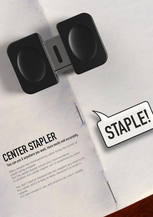 center stapler