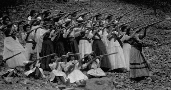 Women in Zapata's army in the Mexican Revolution