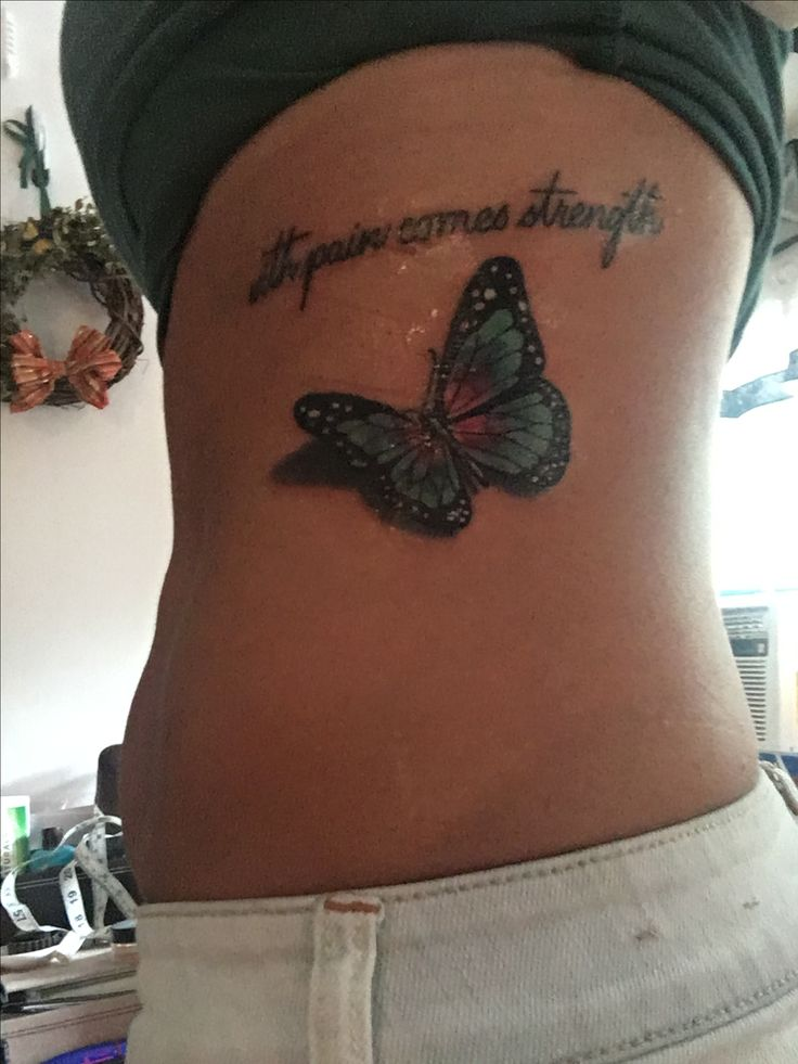 With pain comes strength. Thyroid cancer tattoo.