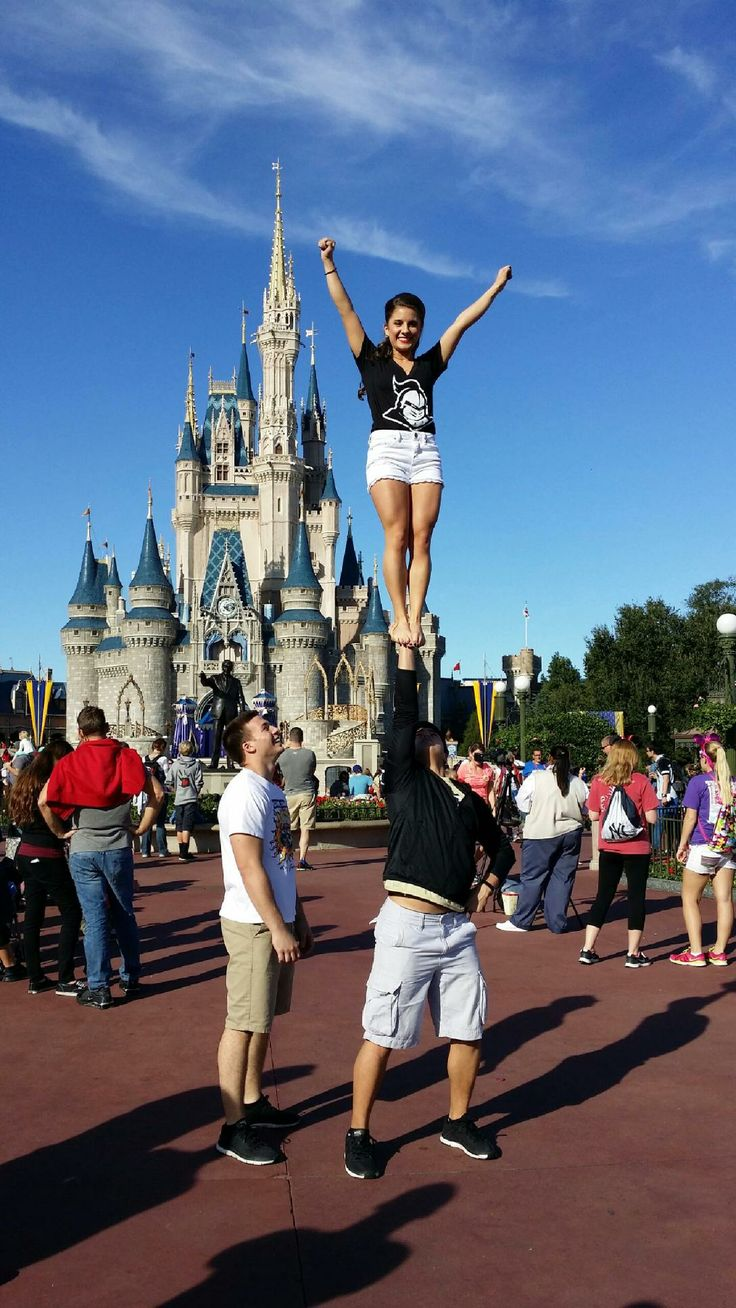 Stunts At Disney World Ucf Cheer Cheerleading