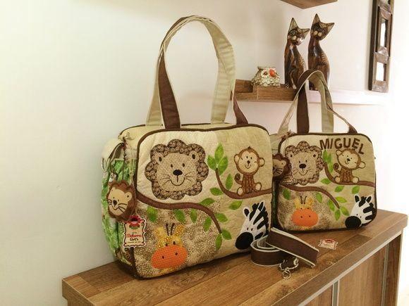 Conjunto de Bolsas de Maternidade Safari