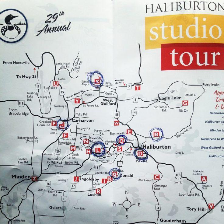Haliburton Studio Tour Map