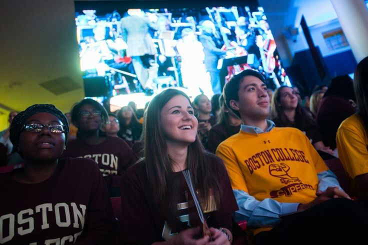 Students enjoying the concert