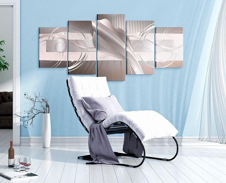 Obraz abstrakcyjny: nowoczesna abstrakcja świetnie sprawdzi się na ścianie w salonie!