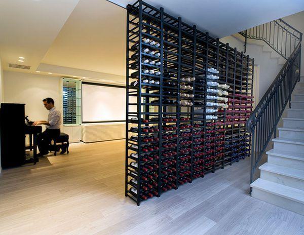 wine rack wall - Google Search