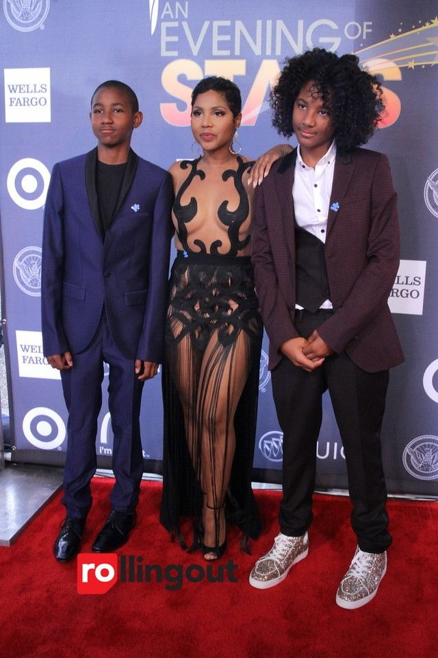 Toni Braxton with her sons, Denim and Diezel | UNCF An ...