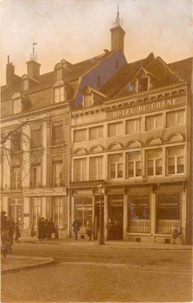 Boschstraat, Hotel Du Chêne. Met Derlon en Du Casque hoort het bij de oudste nog bestaande hotels. (Bron rhcl).
