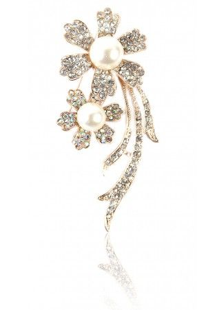 Rose Broach, Rose Gold Bouquet Online at Affordable Price