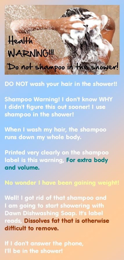 Health Warning: Do Not Shampoo in the Shower #funny #weightloss #diets