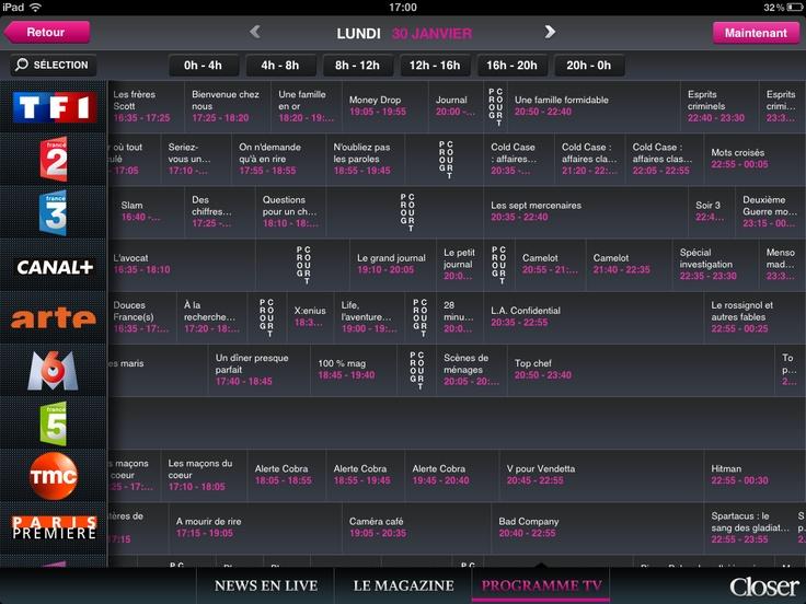 "Design of the TV program screen for the mag ""Closer"""