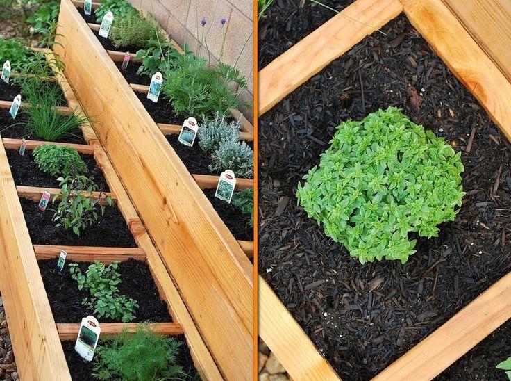 DIY Raised Bed Herb Garden How to Pinterest