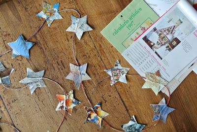 #Christamas #paper #stars #garland #DIY #ultimissimedallorto