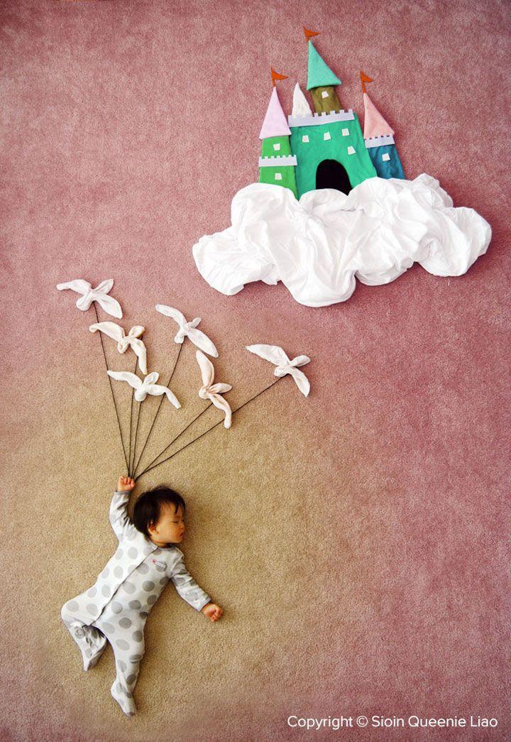 Une maman transforme les siestes de son adorable bébé en des aventures féeriques