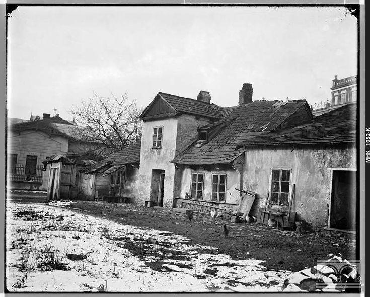 Ul. Łobzowska - nieistniejąca obecnie zabudowa OK.1900R
