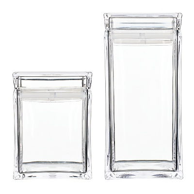 Buy John Lewis Square Acrylic Canister online at JohnLewis.com - John Lewis