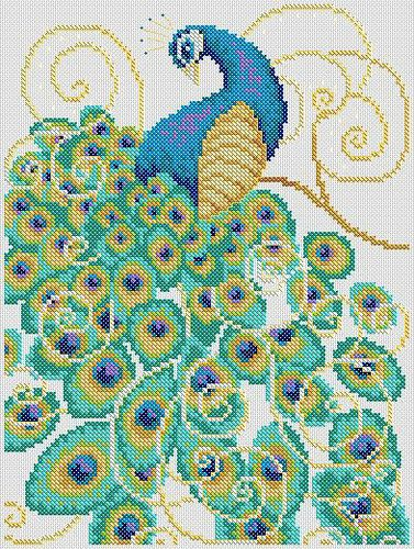 peacock extra feathers | by Lucie Heaton Cross Stitch Designs