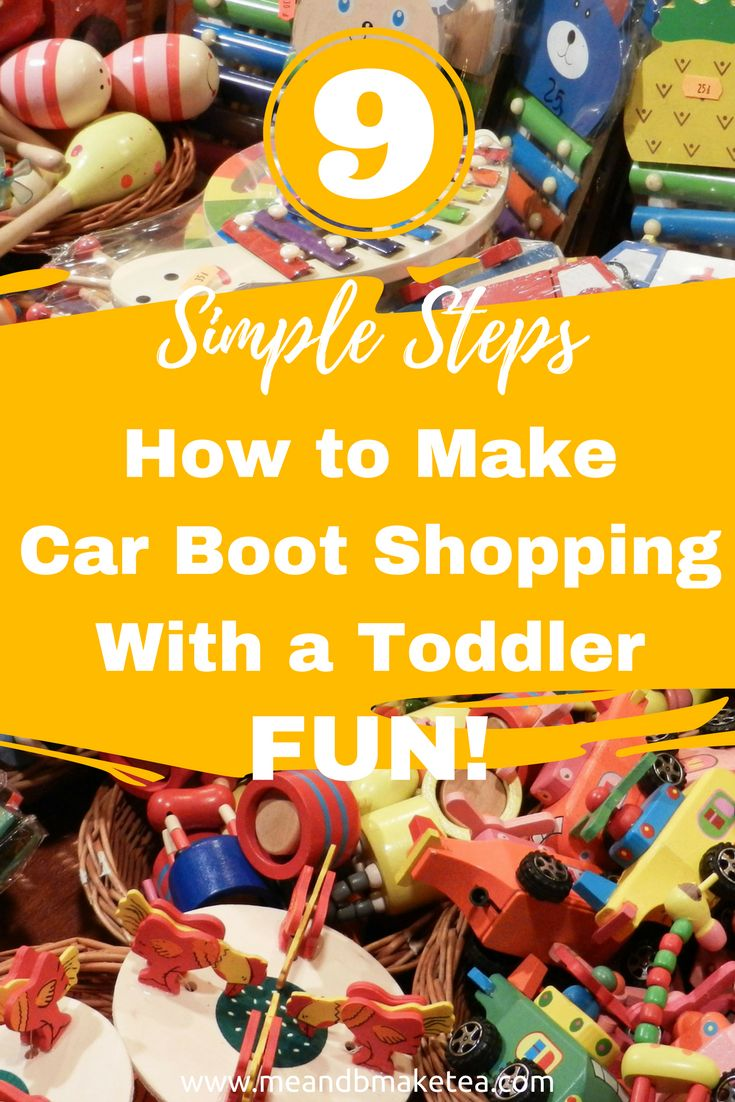 How to Make Car Boot Shopping With a Toddler Fun in 9 Simple Steps!    So today on the blog I share with you a few things that have really helped keep the little one inline when trying to enjoy a Sunday mooch round the local boot.Carboot mooching is one of my guilty pleasures.But unless the hubby has b, I'm left bargaining with a three year old and not the sellers.