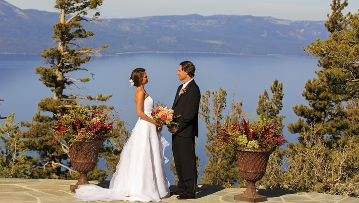 """Want to be married on top of a mountain in Lake Tahoe?  We have just the place! Amazing mountain top wedding venue in Lake Tahoe which puts you literally """"on top of the world!""""  """"Say I Do With A View"""" months.http://lakefrontwedding.com/lake-tahoe-wedding-venues/heavenly-mountaintop/"""