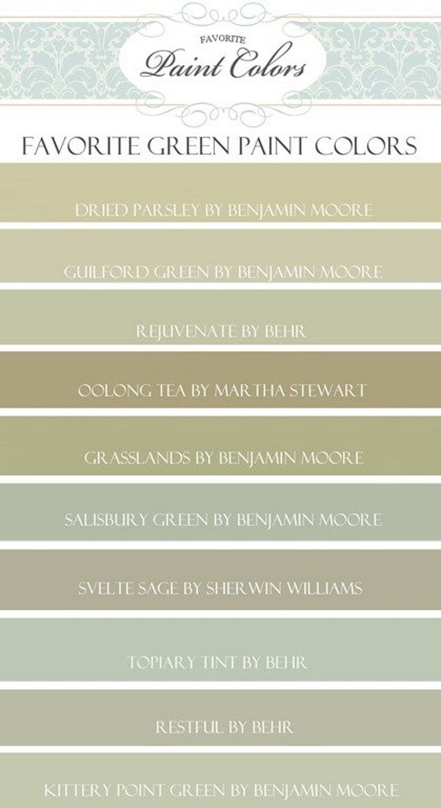 Green Paint Color Ideas Benjamin Moore Dried Parsley Guilford Behr Rejuvenate Martha Oolong Tea Mar