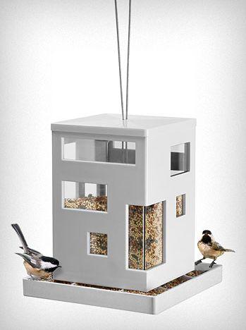 minimalist modern bird house
