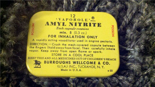 Amyl Nitrite Tin made by Burroughs-Welcome & Co Amyl Nitrite Tin made by Burroughs-Welcome & Co - Amyl Nitrite Tin ma : KookyKitsch.com