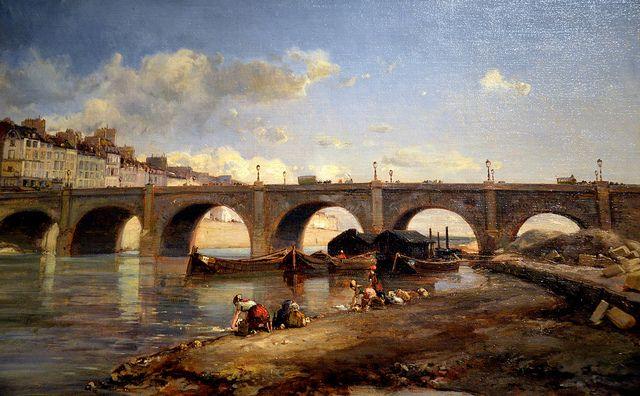 All sizes | Johan Barthold Jongkind - Le Pont de la Tournelle Paris, 1859 at the Legion of Honor (Fine Arts Museums of San Francisco CA) | F...