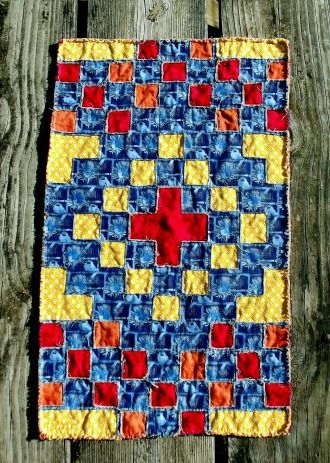 Southwest Cross Quilted Table Runner Quilting Pattern