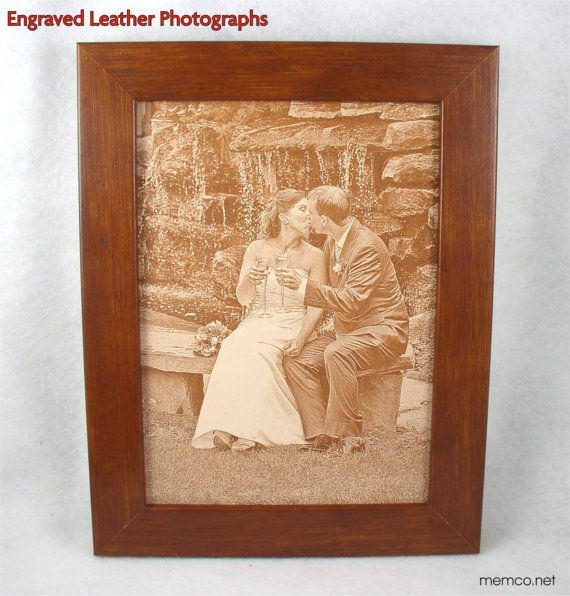 3rd Anniversary LEATHER PHOTOGRAPH Engraved by KillorglinCreations