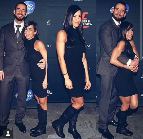 cm punk and wife aj lee at UFC 181 In Las Vegas ...