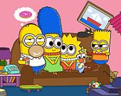 Simpsons Family Minion Print Wall Decor Art Home Decor Wall Hanging